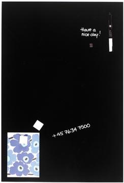 Naga Magnetisch glasbord, zwart, ft 40 x 60 cm