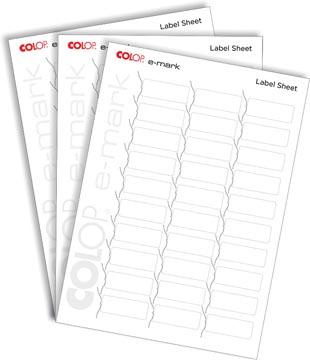 Colop E-mark etikettenblad, 10 x 30 etiketten