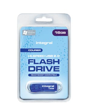 Integral Courier USB 2.0 stick, 16 GB