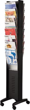 Paperflow mobiele folderhouder, dubbelzijdig, 16 vakken, zwart