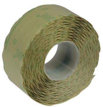 Etiketten voor prijstang Samark, ft 26 x 12 mm, permanent, pak van 12 rollen
