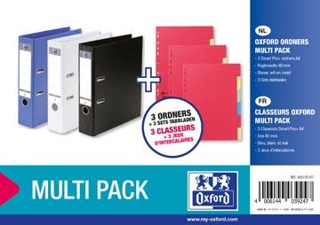 Oxford Smart Pro+ ordner + tabbladen (multipack 3 + 3)