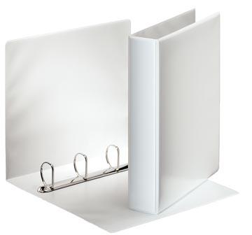 Esselte personaliseerbare ringmap, rug van 6,2 cm, 4 D-ringen van 40 mm, wit