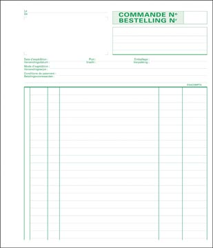 Exacompta bestellingen, ft 21 x 18 cm, bilingue, dupli (50 x 2 vel)