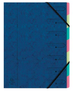 Exacompta Sorteermap 7-delig, blauw