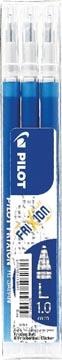 Pilot balpenvulling FriXion Ball /Clicker 10 blauw, set van 3 stuks