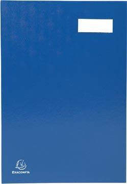 Exacompta handtekenmap voor ft 24 x 35 cm, uit karton overdekt met pvc, 20 indelingen, blauw