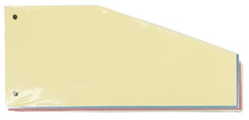 Pergamy trapezium verdeelstroken, pak van 100 stuks in geassorteerde kleuren