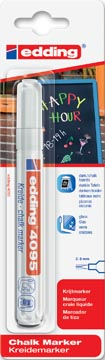 Edding Krijtmarker e-4095 wit (1 stuk op blister)