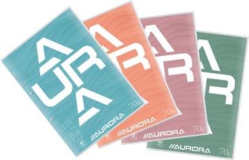 Aurora Splendid cursusblok, ft A4, 70 g/m², 2-gaatsperforatie, geruit 10 mm, 100 vel