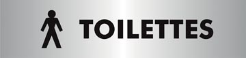 Stewart Superior zelfklevend pictogram toilettes pour hommes