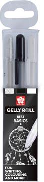 Sakura roller Gelly Roll Basic, etui van 3 stuks (transparant, zwart en wit)