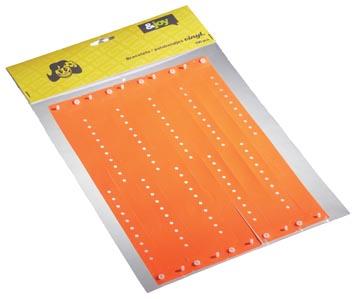 Orakel polsbandjes Vinyl, oranje, pak van 100 stuks