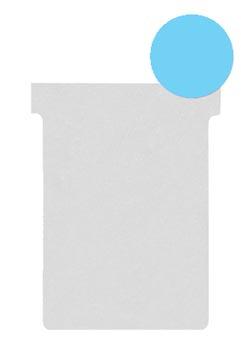 Nobo T-planbordkaarten index 2, ft 85 x 60 mm, lichtblauw