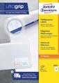 Avery Zweckform 3669, Universele etiketten, Ultragrip, wit, 100 vel, 15 per vel, ft 70 x 50,8 mm